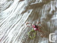 Designer Free People cream summer dress. small pink