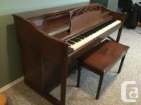 Compact size piano for free to a good home. Kids don't