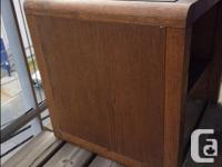 FREE solid wood side table. The top and sides have