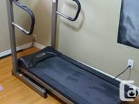 Barely used, powered folding treadmill available.