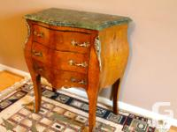 Exceptional French antique style with green marble top