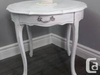 This is a gorgeous solid wood French Provincial accent