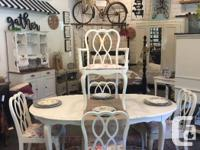Classic white dining set. Perfect for that shabby chic