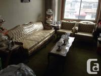 must go - french provincial sofa set - never used,