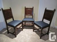 # French style Walnut Dining 6 chairs - $400  Excellent