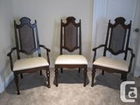 French style Walnut Dining 6 chairs  Excellent