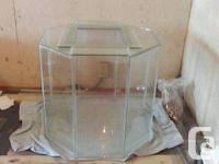 "50 Gallon Octagon Terrarium. approx. 22"" broad by 22"""