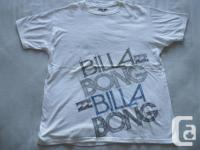 New Billa Bong white brief sleeve T-shirt, 100 %
