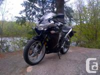 I have a 2012 Honda CBR 250 with ABDOMINAL. Black and