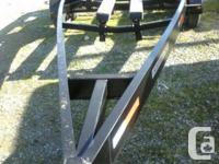 Repainted steel, 13,000 # ability, flexible bunks,