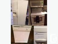 This complete white four appliance set would be great