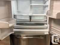 69�H * 36�W * 28�D, GE Profile stainless steel fridge,