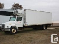 1998 Freightliner FL70, Single axle truck. 24'insulated