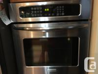 """13 yr old S/S 27"""" Convection Wall Oven by Frigidaire."""