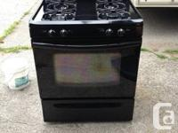 Selling a used (2 year old) black Frigidaire Gas