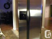 Frigidaire Stainless-steel Refrigerator. Side-by-side