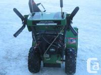 For Sale: FRONTIER Snowblower $750.00 11hP Briggs