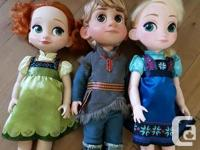 Elsa, Anna & Kristoff. Price is per doll. Will sell all