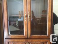 Fruitwood curio cabinet, very versatile cabinet in