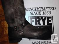 Frye Harness 12R Charcoal Boots - size 10 Almost new,