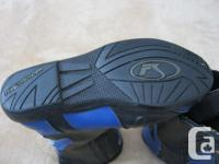 FS (Fieldsheer) motorcycle riding boots, blue/black