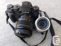 gently used fujifilm X-T1 camera with 18-55 lens. Also