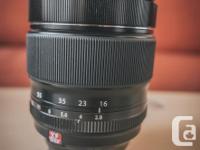 Hi, I'm selling my Fujifilm XF 16-55mm f/2.8 R LM WR