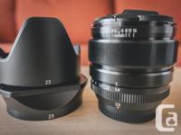 Hi, I'm selling my Fujifilm XF 23mm f/1.4 R lens with