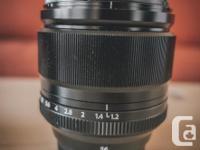 Hi, I'm selling my Fujifilm XF 56mm f/1.2 R lens.