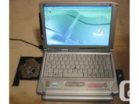 Fujitsu P-2040 Laptop computer with WiFi Card -