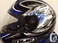 Full Coverage HJC motorcyle helmet . Large , as new