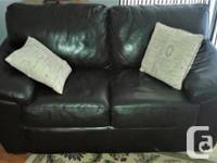 ***NEW PRICE*** Dark brown all leather sofa and