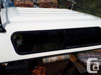 "Fiberglass canopy for full size truck. 8'4"" x 6'."