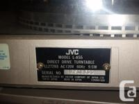 This vintage JVC turntable and amplifier set is from
