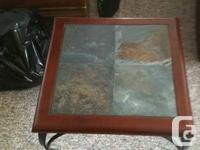 Tiny China Cabinet and Matching Buffet. Solid wood,