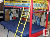 Metal futon bunkbed come with all the assembly