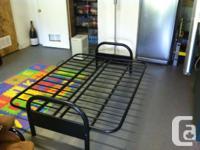 MAKE AN OFFER Black METAL Futon frame NO mattress just