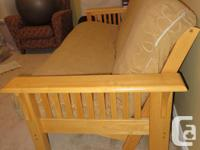 Futon in great made use of problem. Strong timber