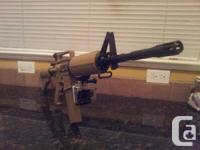NO GOPRO!!!!!!! g&g gr16/m4 carbine riffle  gun tan