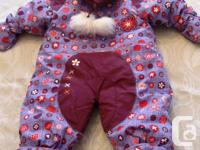 NEW PRICE MARCH 4/2015 Purple and burgundy snowsuit -