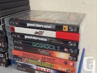 Selling off my PS3 video games. Done in terrific shape