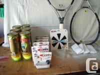 Two Gamma oversize Air Carbon Power 3.0 racquets.