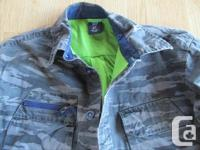 Childs size small Gap camo style jacket and camo