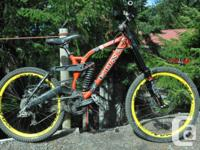 Kona Garbonzo Quick guide downhill 2007 bike for sale.