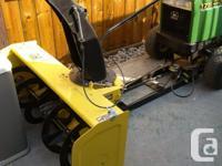 "1990 John Deere garden tractor with 38"" cutting deck"