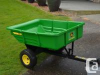 John Deere 7P utility trailer (7 cu.ft. capacity),