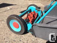 Push lawnmower by Gardena with grass collector