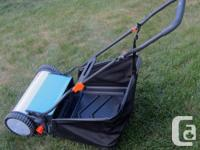 Gardena hand reel mower 380C. Deluxe non-friction,