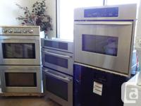 Several makes and models of gas & electric ranges/wall