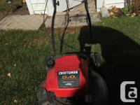 Gas Lawnmower - Works Great - Cuts Well. Runs Well.